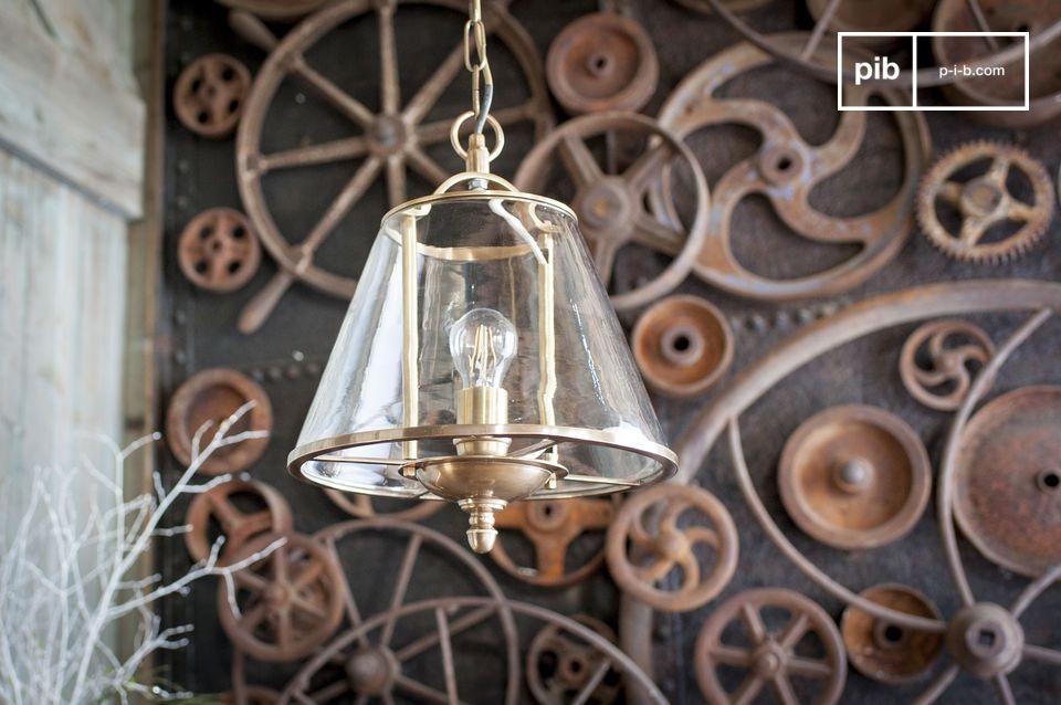 Lampada a sospensione in vetro Lacanau
