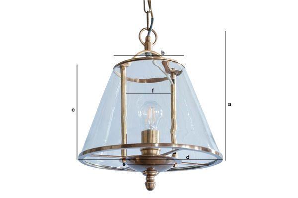 Dimensioni del prodotto Lampada a sospensione in vetro Lacanau