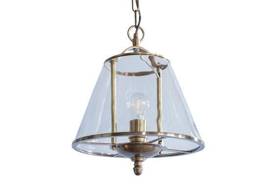 Lampada a sospensione in vetro Lacanau Foto ritagliata