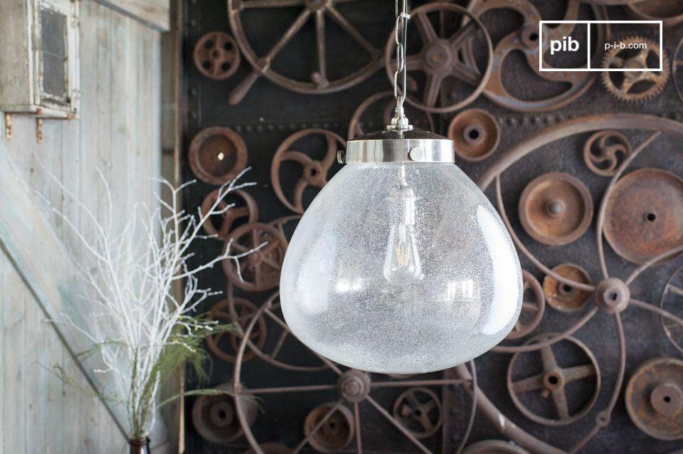 Elegante sospensione luminosa in stile indù chic