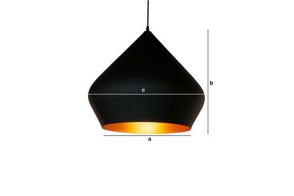 Dimensioni del prodotto Lampada a sospensione nera Liselotte