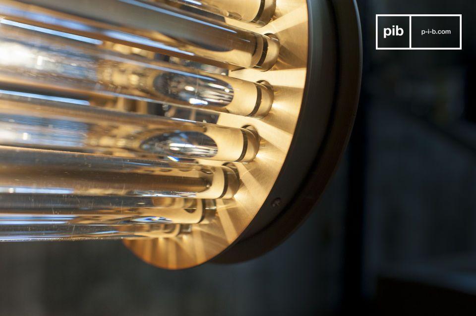 Costituita da tubi di vetro annegati nelle estremità in ottone