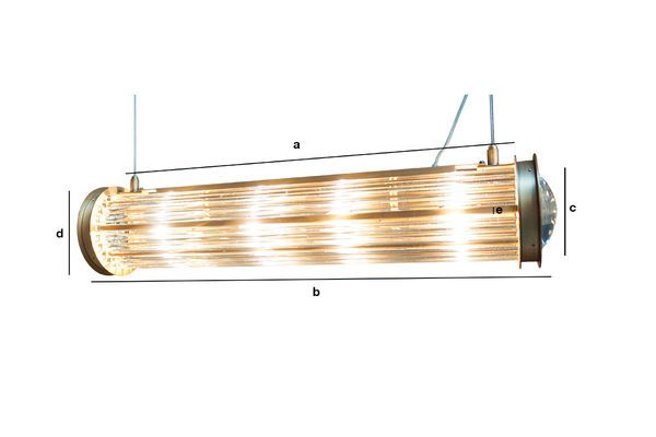 Dimensioni del prodotto Lampada a sospensione nera Newton