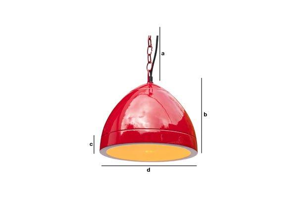 Dimensioni del prodotto Lampada a sospensione rossa Këpsta