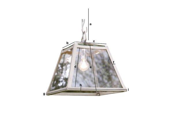 Dimensioni del prodotto Lampada a sospensione Serra 26 cm
