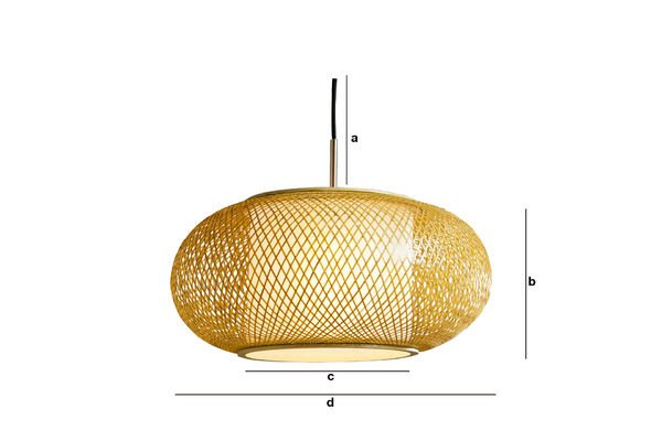 Dimensioni del prodotto Lampada a sospensione Skib