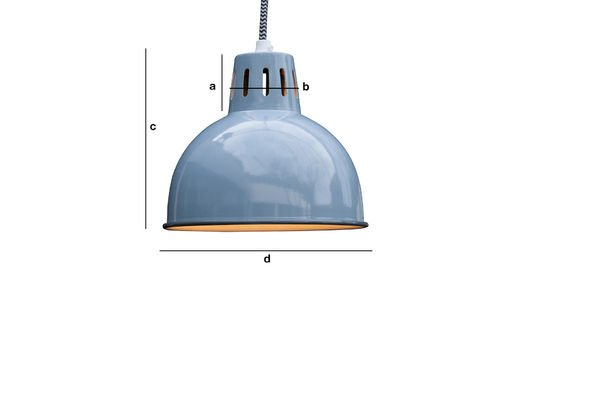 Dimensioni del prodotto Lampada a sospensione Snöl blu