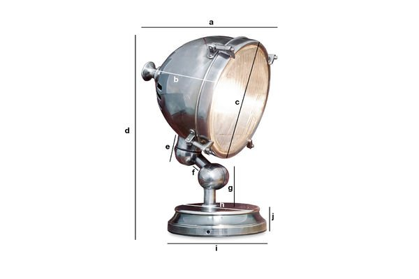 Dimensioni del prodotto Lampada Argentata
