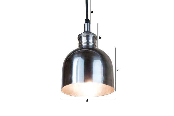 Dimensioni del prodotto Lampada Argentata Brillante