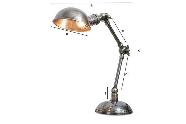 Dimensioni del prodotto Lampada argentata con doppia articolazione