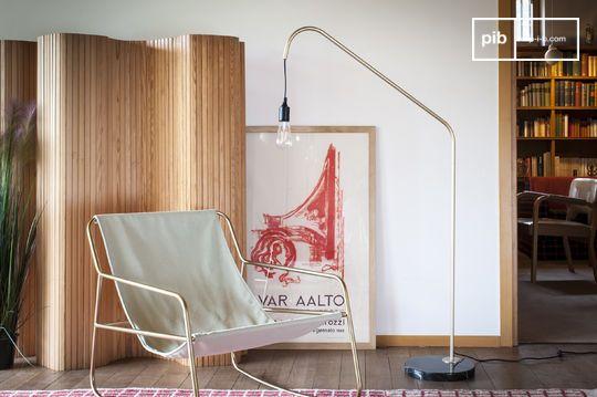 Lampada da lettura in ottone e marmo Mogens