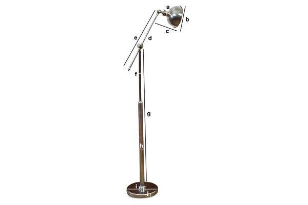 Dimensioni del prodotto Lampada da lettura orientabile in metallo