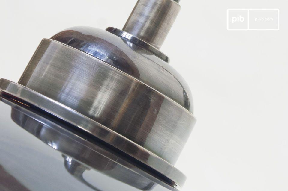Grande lampada in ottone argentato impermeabile, per uso esterno o interno