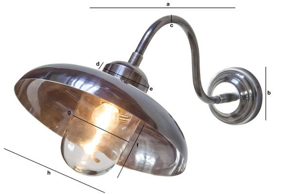 Dimensioni del prodotto Lampada da muro a collo di cigno