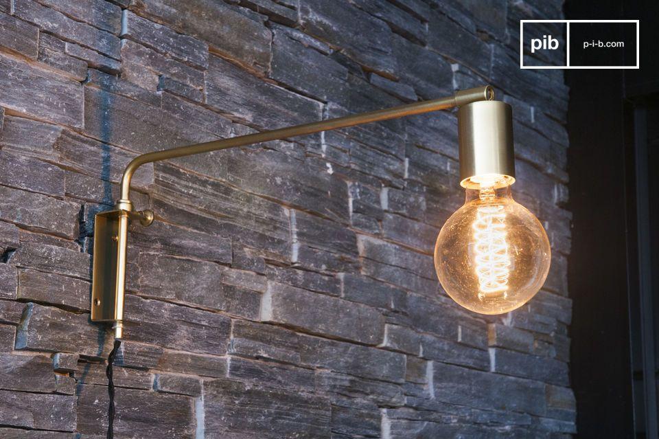 Lampada da muro janika con speciali finiture dorate pib