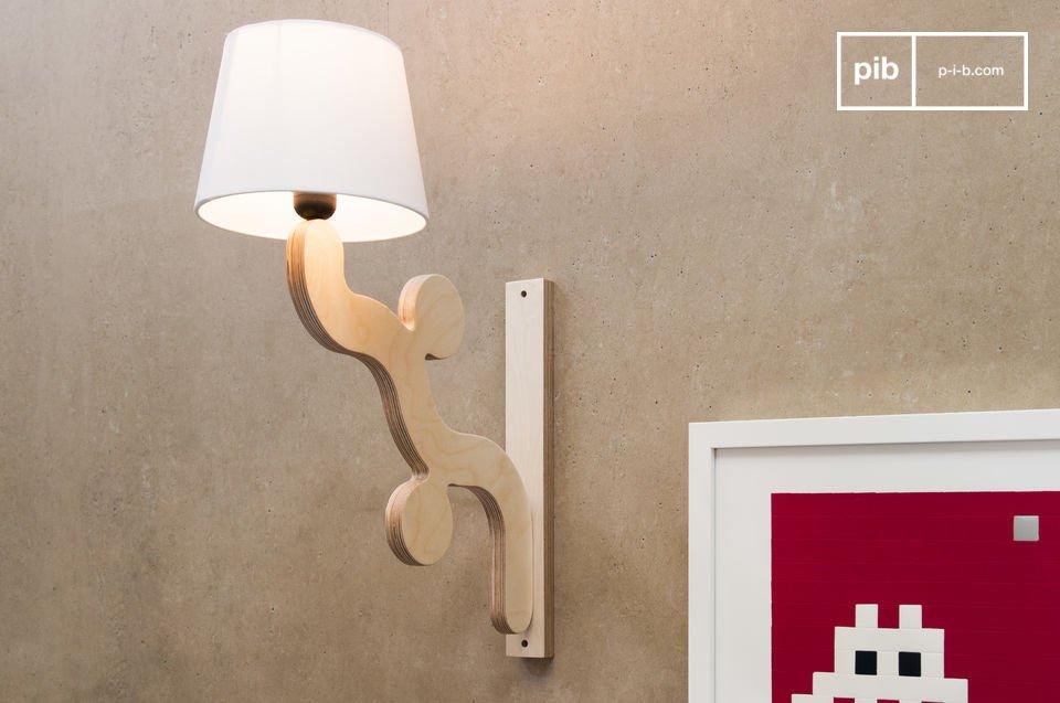 Lampada da muro rholl originale design scandinavo pib
