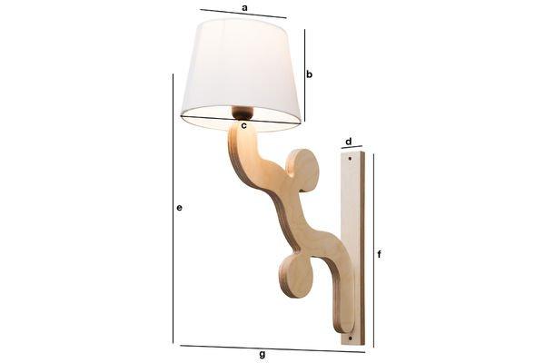 Dimensioni del prodotto Lampada da muro Rholl
