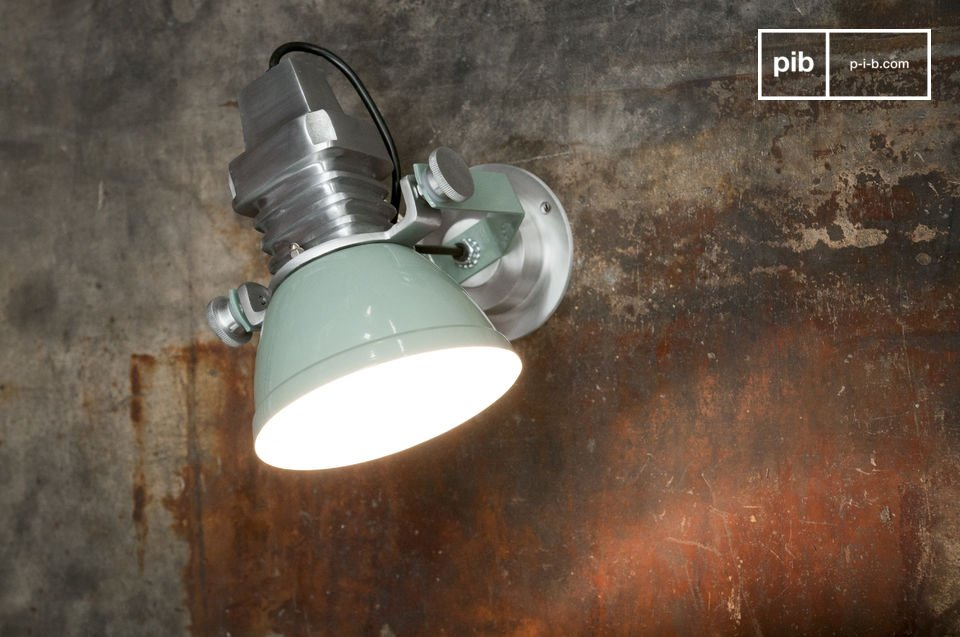 Lampada da muro sogelys alluminio paralume verde interno pib