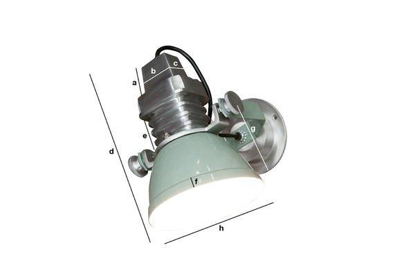 Dimensioni del prodotto Lampada da muro Sogelys
