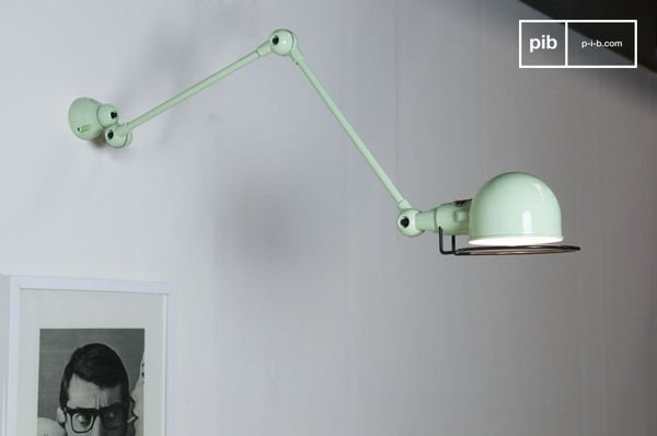 Lampada da muro verde acqua Jieldé Signal