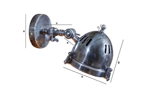 Dimensioni del prodotto Lampada da Parete Argentata Tipo Faretto