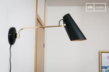 Lampada da parete Birdy nera