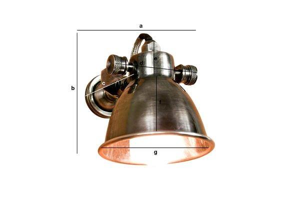 Dimensioni del prodotto Lampada da parete Bistrò