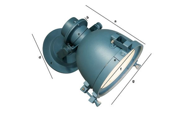 Dimensioni del prodotto Lampada da parete blu petrolio Spitzmüller