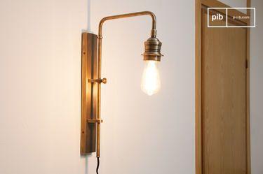 Lampada da muro a collo di cigno in ottone pib