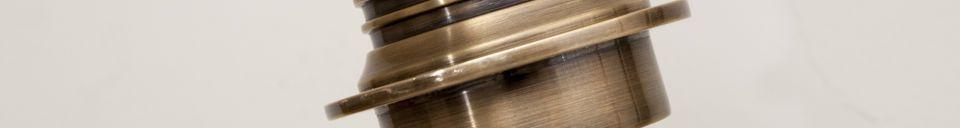 Materiali prima di tutto Lampada da parete girevole in ottone girevole  Lerwick