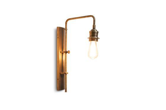 Lampada da parete girevole in ottone girevole  Lerwick Foto ritagliata