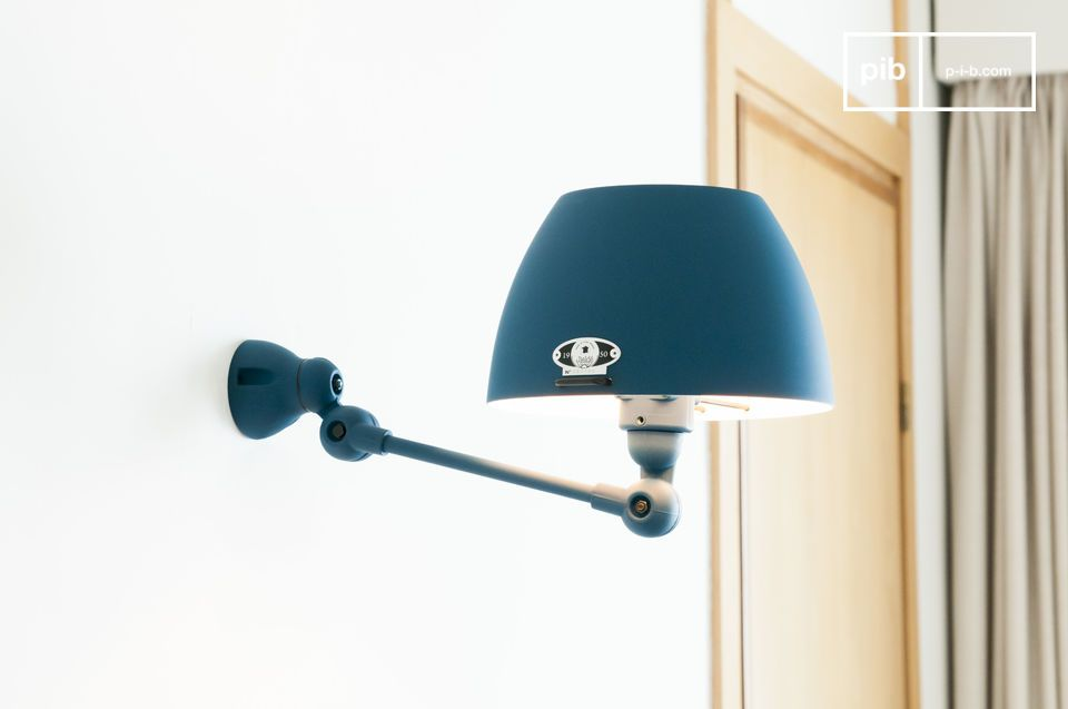 Lampada da parete Jieldé Aicler blu oceano