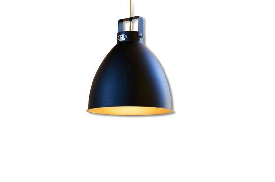Lampada da parete Jieldé Augustin 36 cm nero opaco Foto ritagliata