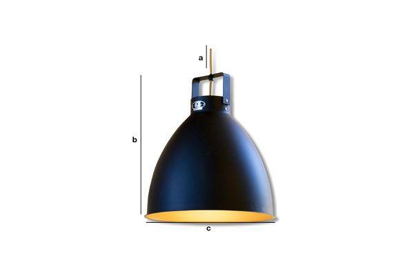 Dimensioni del prodotto Lampada da parete Jieldé Augustin 36 cm nero opaco
