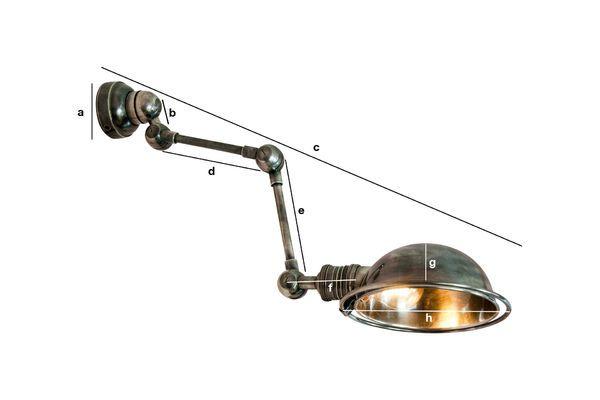 Dimensioni del prodotto Lampada da parete Machine-tool