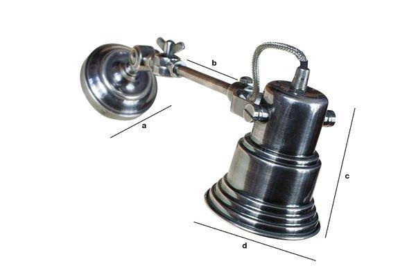 Dimensioni del prodotto Lampada da Parete Mons