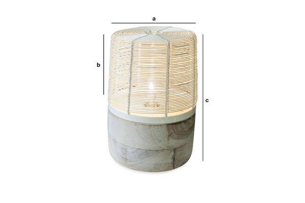 Dimensioni del prodotto Lampada da tavolo Cistella