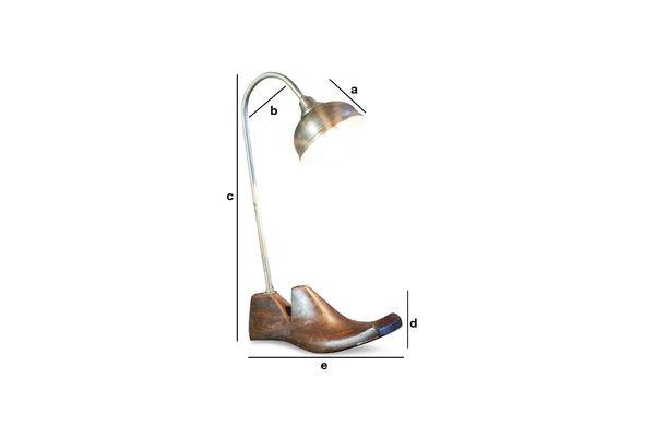 Dimensioni del prodotto Lampada da tavolo Horma