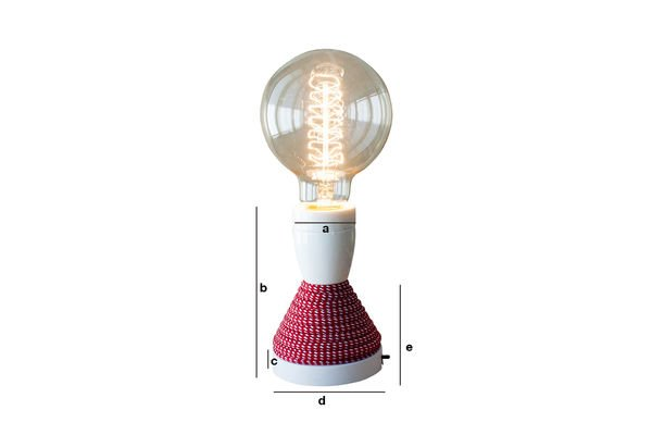 Dimensioni del prodotto Lampada da tavolo NUD
