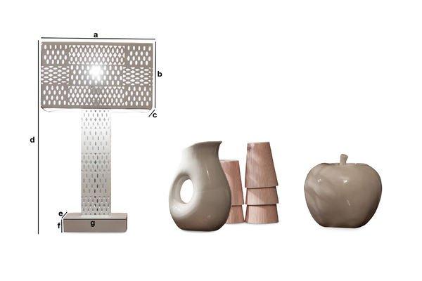Dimensioni del prodotto Lampada da tavolo Raüma