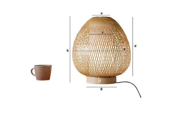 Dimensioni del prodotto Lampada da tavolo Skib