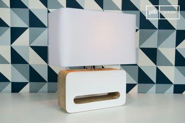 Lampada da tavolo Wood White
