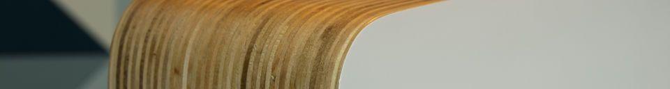 Materiali prima di tutto Lampada da tavolo Wood White