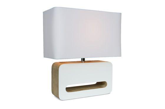Lampada da tavolo Wood White Foto ritagliata