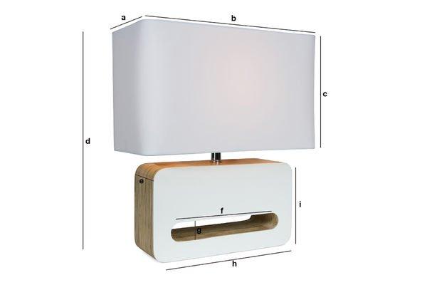 Dimensioni del prodotto Lampada da tavolo Woodwhite
