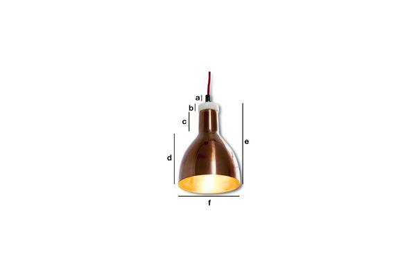 Dimensioni del prodotto Lampada Design Bidart in Rame