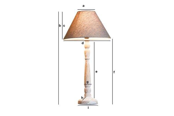 Dimensioni del prodotto Lampada in legno Alix