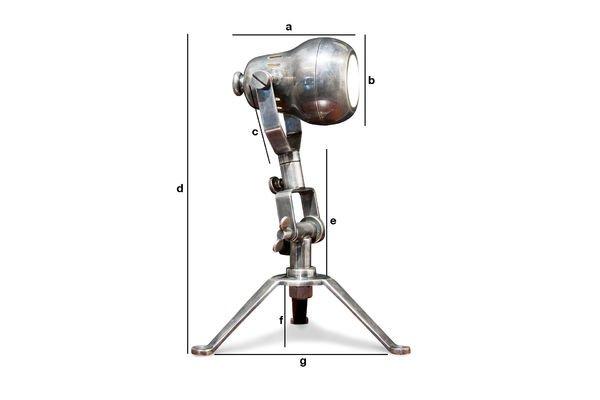 Dimensioni del prodotto Lampada in ottone Spoutnik
