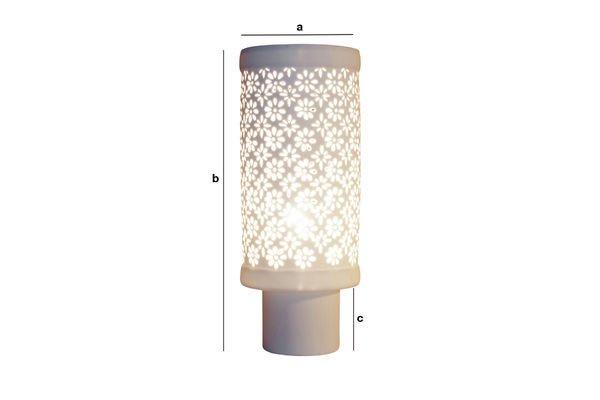 Dimensioni del prodotto Lampada in porcellana a fiori