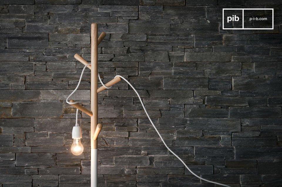 Questa semplice ma elegante lampada tutta in bianco donerà una bellissima luce ai vostri interni